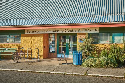 A shot of a community centre and daycare in the neighbourhood
